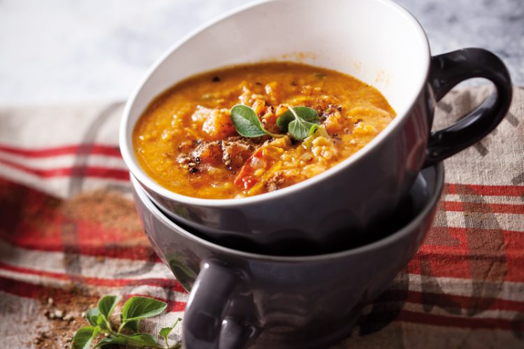 Spicy Lentil Tomato Soup